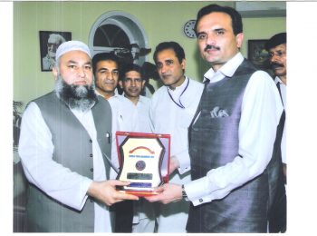 Chairman HF with Chief Minister KPK Mr. Ameer Haider Khan Hoti at CM office