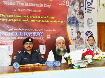 Chief Guest Mr. Qazi Jameel ur Rehman CCPO (Police Chief) on the eve of World Thalassaemia Day-2018