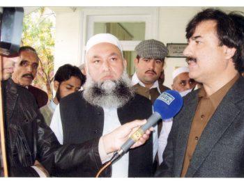 PTI leader and Provincial Minister Health Shaukat Yousafzay vis