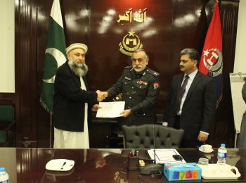 Receving of Donation cheque from IGP-KP